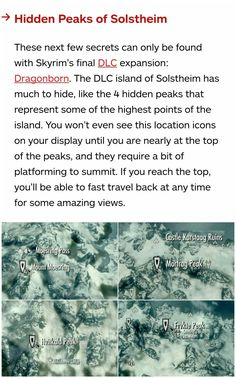 Skyrim secrets: The four hidden peaks of Solstheim