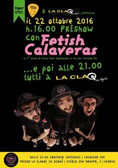 Sabato 22 ottobre I Fetish Calaveras in concerto a Genova per la presentazione dell'album RADIO SAFARI