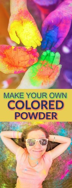 ULTIMATE KID FUN: Have a color fight using homemade colored powder.  I can't wait to try this!! (Play date idea)