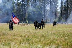 Civil War Re-inactment. Graeagle, California. July 4, 2010