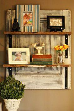 The Painted Home - DIY - barnwood shelf