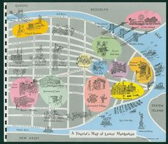 Lower Manhattan Tourist's Map