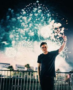 I don't know what is more perfect the fireworks or him ❤