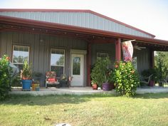 Hopefully our future home can be like this....Morton Building Homes | Metal Building Home in Texas, Workshop, Bandominium