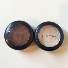 MAC Eyeshadows Deeply Dashing (brown) and Angelic (white) pressed pigments - only used a few times MAC Cosmetics Accessories