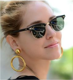 Óculos de Sol Super Elegante e de Alta Qualidade estilo RayBan Clubmaster para Mulheres - Ronza Store