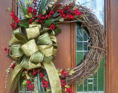 Árbol de Navidad de malla XL por JenniferzWreaths en Etsy
