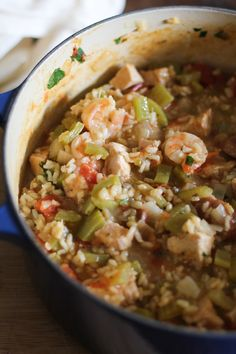 Easy One-Pot Jambalaya  Serving Size: 1 1/2 cups  Per serving: Calories: 331