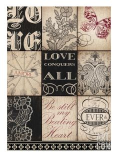 'Vintage Love' Art Print by Marco Fabiano at Art.com