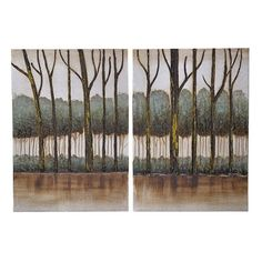 Canvas Wall Art Set Of 2 Pieces - Canvas - Lacquer - PAINTINGS