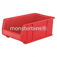 Akro-Mils 30281 from Monster Bins . Super Size AkroBin These Stacking Bins measure . 30281 Akro Bins are Available in Blue, Red or Yellow. Storage Bins, Storage Chest, Stacking Bins, Toy Chest, Yellow, Blue, Red, Home Decor, Storage Crates