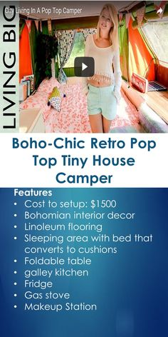 Boho-Chic Retro Pop Top Tiny House Camper | In This Guide, You Will Learn The Following; Boho Caravan Interiors, Hippie Camper Interior, Boho Camper, Tiny House Nation Bohemian Treehouse, Gypsy Camper Trailers, Gypsy Camper For Sale, Gypsy Rv For Sale, Bohemian Tiny House, Etc.
