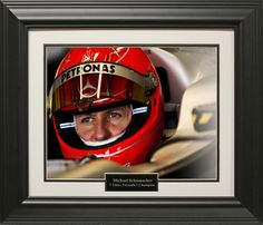 Michael Schumacher Photo Matted and Framed