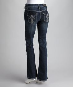Take a look at this Rock & Roll Cowgirl Medium Wash Whisker Jeans - Women by Rock & Roll Cowgirl and Wing & A prayer on #zulily today!