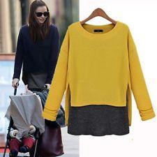 модные женские свободного длинным рукавом хлопок повседневный блузка рубашка топы моды блузка