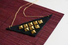 DIY collier cuir et clous