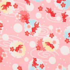 http://www.kawaiifabric.com/en/p11754-pink-cute-fish-flower-dot-fabric-from-Japan.html