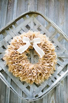 Amazing burlap wreath (Photo by Keepsake Memories Photography)