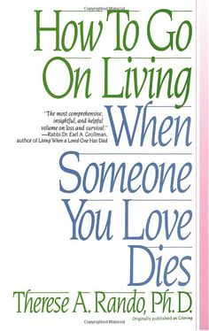 Learn what grief is, how it affects you...no two people grieve the same way.  Even two people that loose the same person will grieve the loss differently.  This book will help you realize just what to expect and just how well you are doing with your grief process.