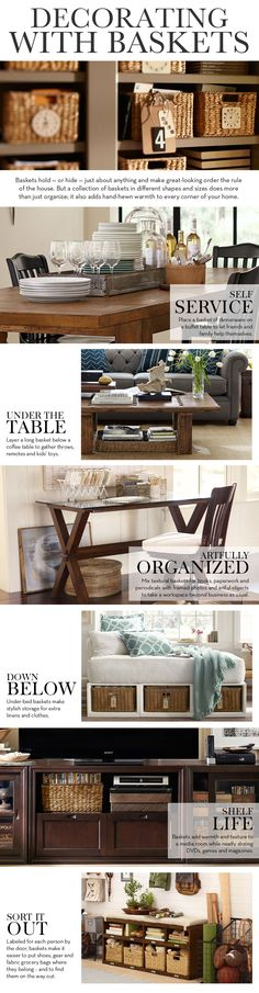 Decorating With Baskets | Pottery Barn