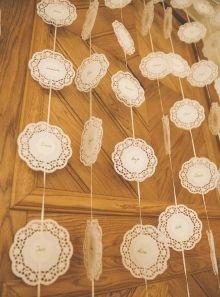 Eine zauberhafte DIY Tischplan-Variante mit Spitze für die perfekt gestylte Vintage Hochzeit Aniko Hochzeiten | Impressionen