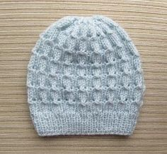 How to Knit an Easy Beanie Hat with Straight Needles ...