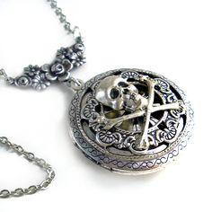 Pirates:  #Pirate Plunder ~ Round Silver Scent Locket.