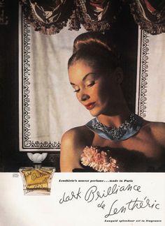 Lisa Fonssagrives-Penn [Vogue magazine - Ad for Lenthéric's made in Paris: Dark Brilliance de Lenthéric - November 1948]
