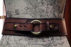 Fossil Fifty Four Equestrian Wide Brown Leather Snaffle Bit Belt- same style buckle as my flats