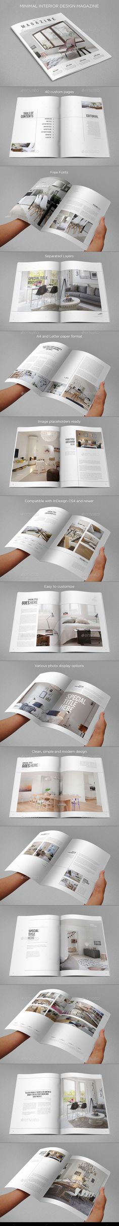 Minimal Interior Design Magazine Template | Download: http://graphicriver.net/item/minimal-interior-design-magazine/9499179?ref=ksioks