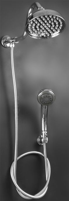 "6"" Beacon Rain Shower Head With Hand Held  - Slide Arm Available $165.00"