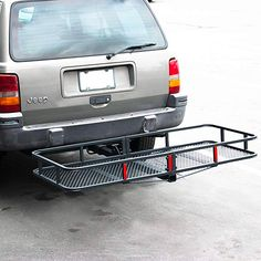 ARKSEN Folding Cargo Carrier Luggage Basket 2 Receiver Hitch 60 x 25 inch * Learn more by visiting the image link. Trailer Hitch Accessories, Car Accessories, Best Trailers, Suv Camping, Receiver Hitch, Baskets, Road Trip Adventure, Campers, Vehicles
