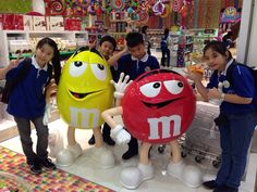 At Candylicious, we were took a picture with m&m's star.. We bought lot of herseys!!