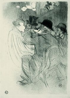 Henri de Toulouse-Lautrec, At the Moulin Rouge, a Rude!  ... a real Rude !, 1893 Lithograph