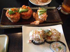 Sushi at Shibuya#Spicy tuna on crispy rice# Spicy shrimp on crispy rice# Shibuya Roll