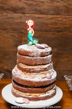 The Little Mermaid  Party cake!  See more party ideas at CatchMyParty.com!