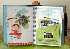 fun smashbook pages by Leeann Pearce