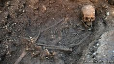 """The remains of King Richard III, which were discovered under a car park, were buried in a """"hastily dug, untidy grave"""", researchers have revealed."""