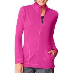 Hanes Sport Women's Performance Fleece Full Zip Jacket, Size: 2XL, Red