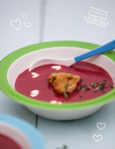 Beetroot broccoli soup