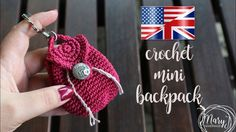 Totally Awesome Crochet Mini Backpack Purse Free Crochet Pattern To Add A Touch Of Personality To Your Gifts - Knit And Crochet Daily Crochet Gratis, Bead Crochet, Crochet Dolls, Free Crochet, Crochet Earrings, Mini Mochila, Mini Backpack Purse, Crochet Backpack, Backpack Pattern