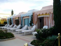 Pool cabanas Paris Hotel Boutique Journal: circus Many carnival pics Beach Cabana, Pool Cabana, Outdoor Rooms, Outdoor Gardens, Outdoor Living, Resorts, Boutiques, Villas, Outdoor Patios