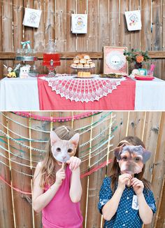 Adorable Vintage Puppy and Kitten Party // Hostess with the Mostess®
