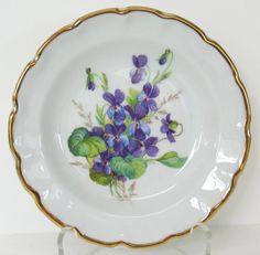 SALE Limoges Violet Dish Porcelain Candy Dish Gold Leaf Violet Tea Plate Vintage FindingMaineVintage on Etsy, $13.00