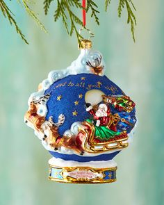 H7WY4 Christopher Radko And to All a Goodnight! Ball Christmas Ornament