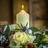 Flowers By Nattrass - Flower shop Flowers Uk, Send Flowers, Rose Candle, Christmas Baskets, Winter Season, Pillar Candles, Getting Married, Roses, Delivery