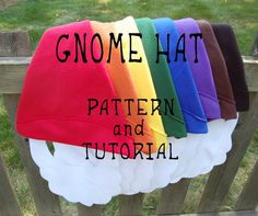 Gnome Hat PATTERN and TUTORIAL by MysticMoor on Etsy