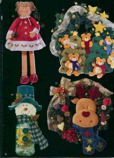 80 Enfeites de Natal em Feltro com Moldes Gratis para Imprimir - Como Fazer