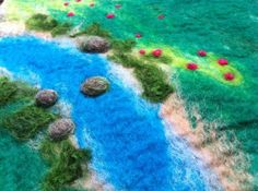 Hand felted story playmat