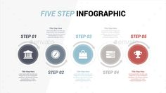 Clean Five Step Infographics Element